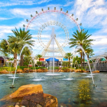 the orlando eye, ferris wheel in orlando