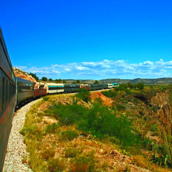 Train ride through the Verde Canyon, Arizona