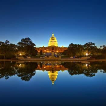U.S. Capitol, Washington DC, USA at night