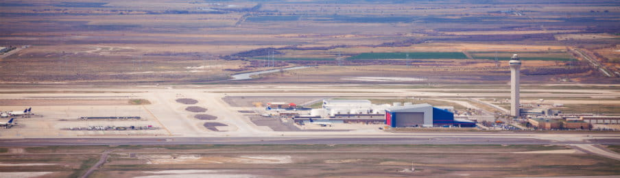 View of Airport in Salt Lake City, USA