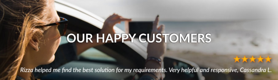 US customer reviews banner