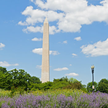 Washington Monument on Memorial Day weekend