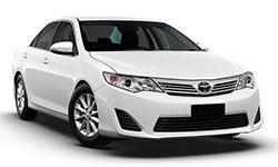 white rental car vehicle