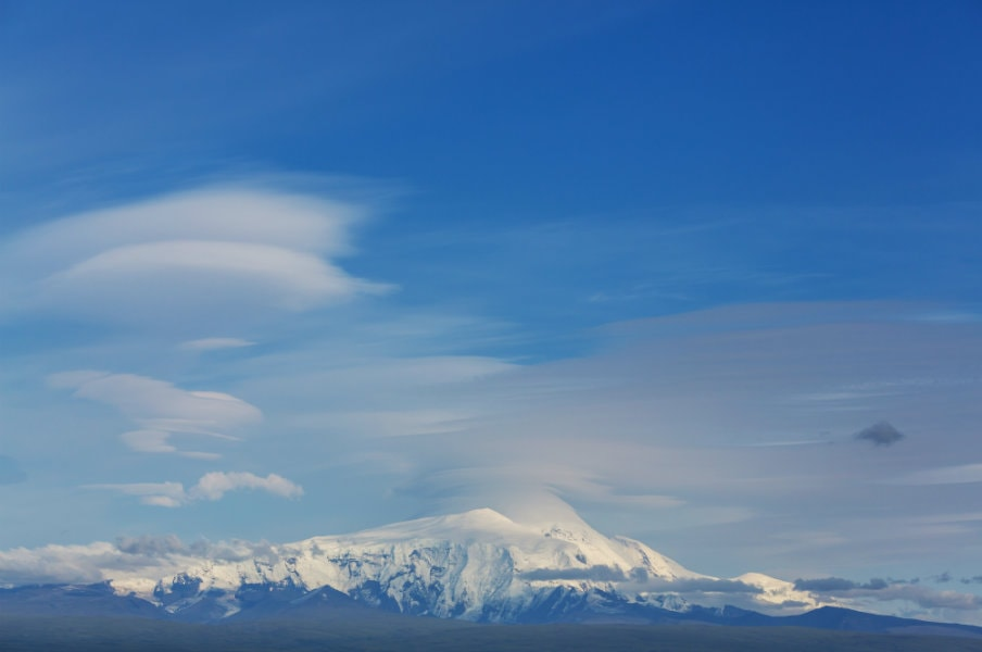 Wrangell St Elias from the highway